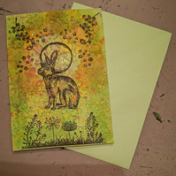 Moongazing Hare Card