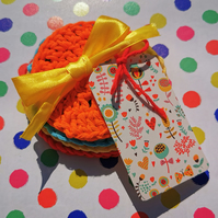 Crochet Face Scrubbies, Re-useable eco-friendly pure cotton wipes
