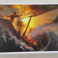 "Pack of 5 postcards ""Jesus calming the storm"""