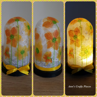 Daffodils Light Up Dome. Decoupage Dome. Daffodils Dome. Daffodils. Gift