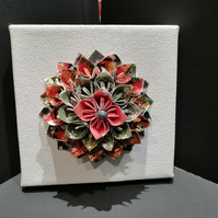 Origami Flower Mandala Canvas