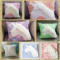 Unicorn Hand-knitted Cushion Covers