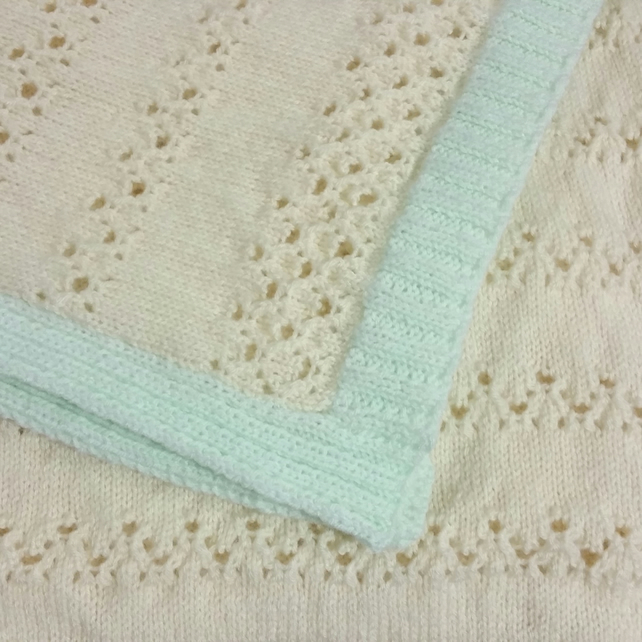 Heirloom hand-knitted babies blanket, shawl