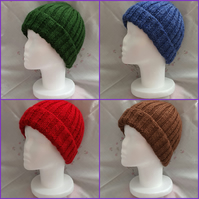 Medium hand-knitted Mens hat