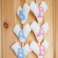Hanging Hearts, nursery decorations, baby shower gifts
