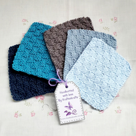Boys Cotton Reusable cloths, hand-knitted