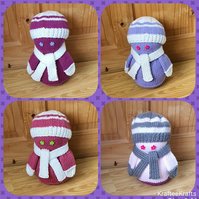 Lady Doorstops, handknitted