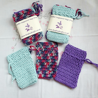 Crochet Soap bags, reusable