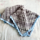 Crib blanket, baby boys crochet blanket