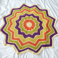 Star blanket, crochet for babies