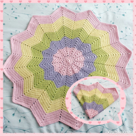 Girls Star blanket, crochet for babies
