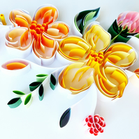 Quilled Floral Wall Art, Flower Wall Decor, Mother's Day Gift,