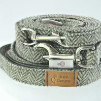 Herringbone Tweed Lead, Harris Tweed Medium lead