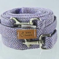 Medium size Harris Tweed dog lead,  Tweed Dog Lead, Purple Dog Leash,