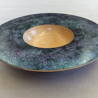 decorative painted bowl made from Rowen wood