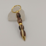 Handcrafted Key ring pen in coffee bean acrylic