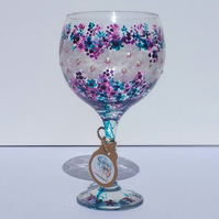 Daisy Jam, Berries and Daisies, Gin Glass hand painted (can personalise)