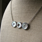 Button Beauty - Vintage Shell Buttons, Hand Soldered Silver Tone Necklace