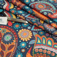 Ethnic Print Indian Inspired Water Resistant Fabric Sold by the Metre : Chennai