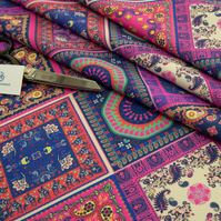 Vibrant Patchwork Water Resistant Fabric Sold by the Metre : Bandana