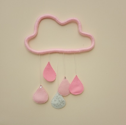 Pink Cloud and Raindrop Mobile