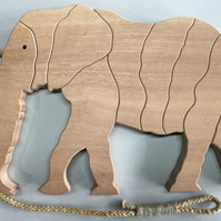 African Elephant Trivet in either Sapele or Tulipwood