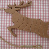 Reindeer (Stag) Trivet in either Sapele or Tulipwood