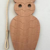 Owl Trivet, in either Sapele or Tulipwood