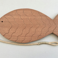 Fish Trivet in either Sapele or Tulipwood