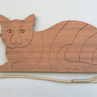 Cat Trivet in either Sapele or Tulipwood
