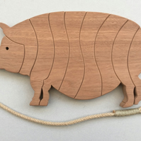 Pig Trivet in either Sapele or Tulipwood