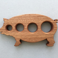 Pig Spaghetti Measure in either Sapele or Beech