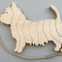 West Highland Terrier Trivet in either Maple or Tulipwood