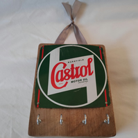 Castrol Key Rack - Reclaimed Oil Can Homeware
