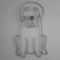 Handcrafted Dog Steel Wall Art - Labrador Wall Hanging