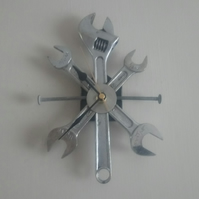 Reclaimed Adjustable Spanner Wall Clock