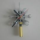 Reclaimed Screwdriver and Spanner Wall Clock