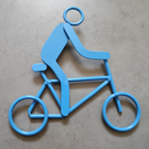 Handmade Steel Ornament Cyclist
