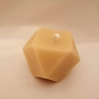 Cuboctahedron beeswax candle made with organic beeswax