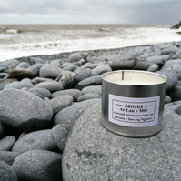 Ar Lan y Mor scented soy wax candle tin handmade in Mid Wales