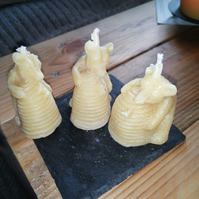Organic beeswax candles - 3 bears
