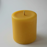 50 hour burn time hand poured organic beeswax pillar candle