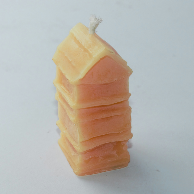 WBC beeswax candle handmade in mid Wales from organic beeswax