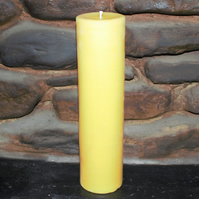 75mm diameter x 300mm high beeswax pillar candle made with organic beeswax