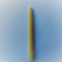235mm high spiral beeswax candle made with organic beeswax
