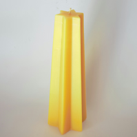 Beeswax candle – star shaped pyramid, handmade in mid Wales from organic beeswax