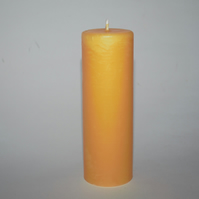 40 hour burn time organic beeswax candle - hand poured in mid Wales
