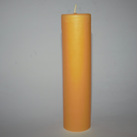 60 hour burn time organic beeswax candle - hand poured in mid Wales