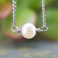 Single Freshwater Pearl Necklace, Stainless Steel Chain