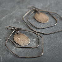 Textured Sterling Silver Statement Earrings